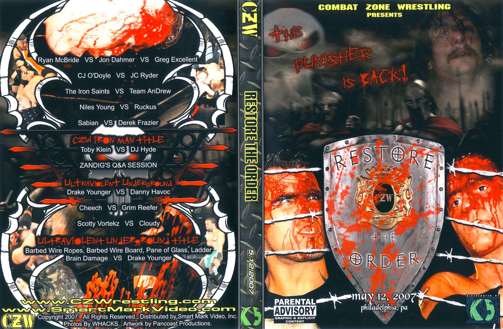 CZW_Restore_The_Order_-_Philadelphia,_PA_12052007_-_Cover