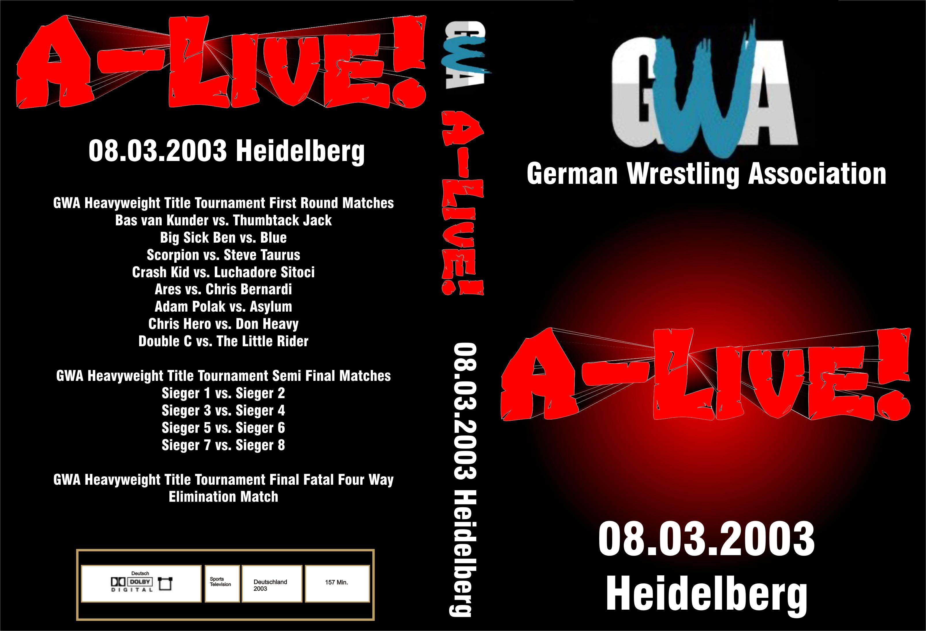 GWA A-Live! - Cover