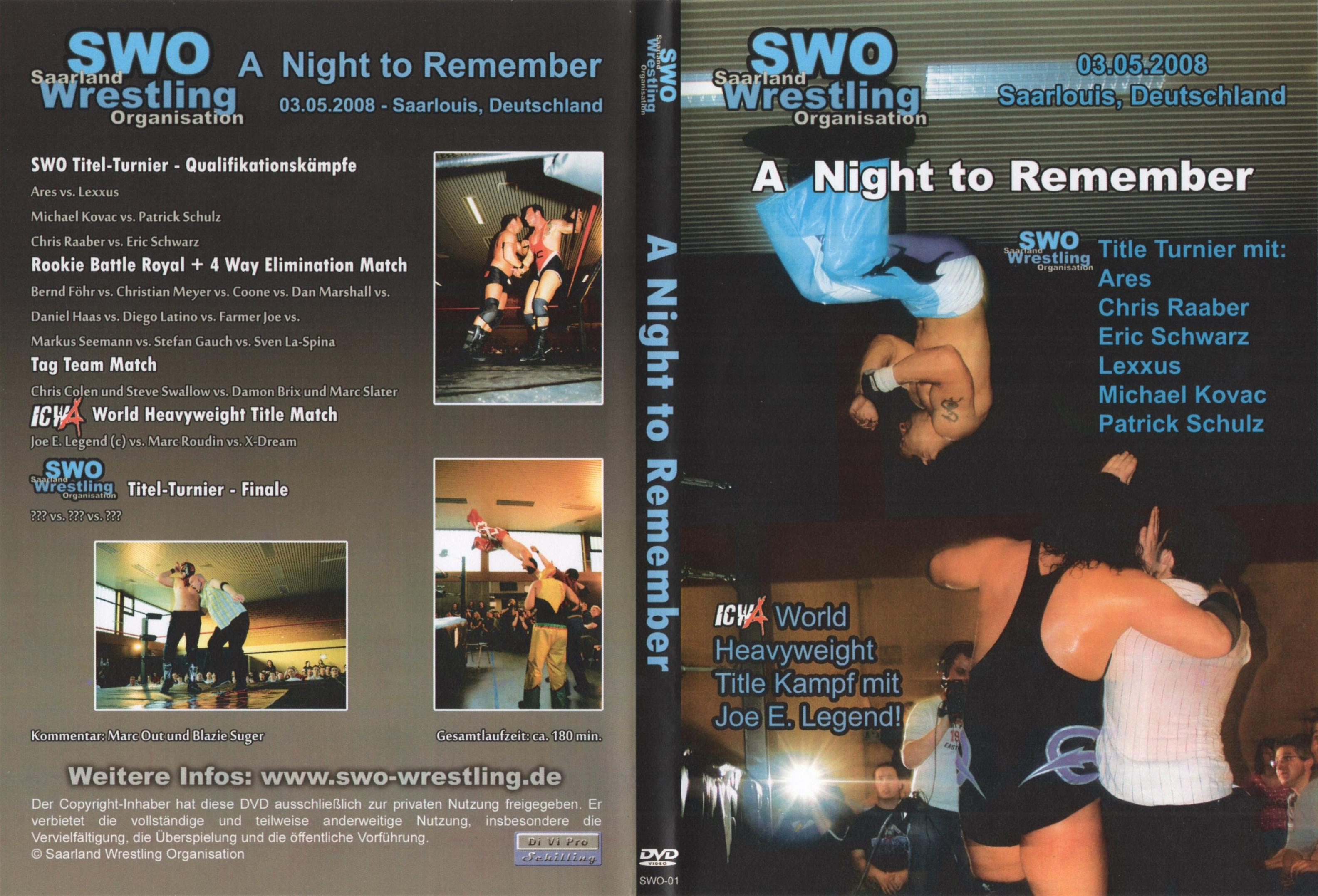 SWO - A Night To Remember - Cover