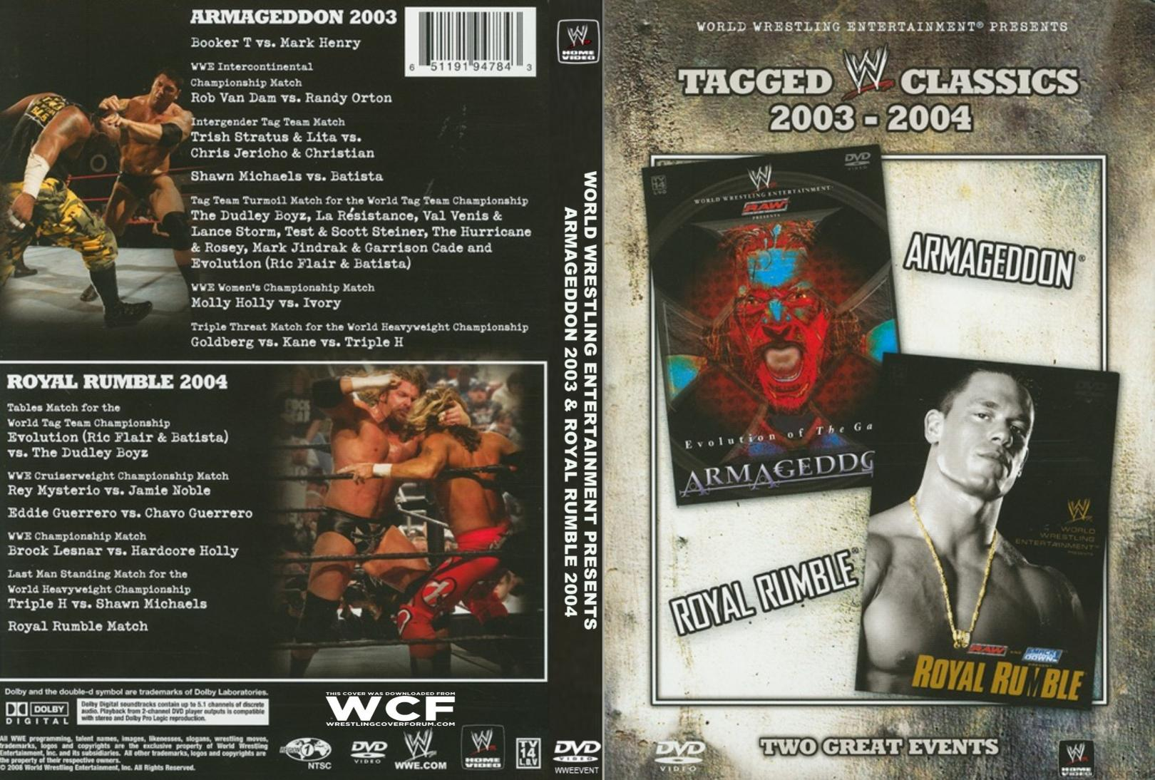 WWE%20TAGGED%20CLASSICS%202003-2004%20ARMAGEDDON%20&%20ROYAL%20RUMBLE