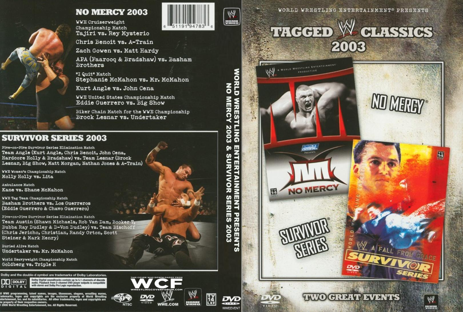 WWE%20TAGGED%20CLASSICS%202003%20NO%20MERCY%20&%20SURVIVOR%20SERIES