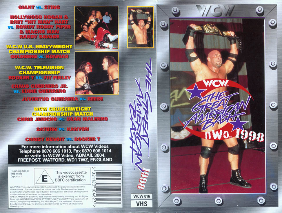 WCW COVER - GREAT AMERICAN BASH 98