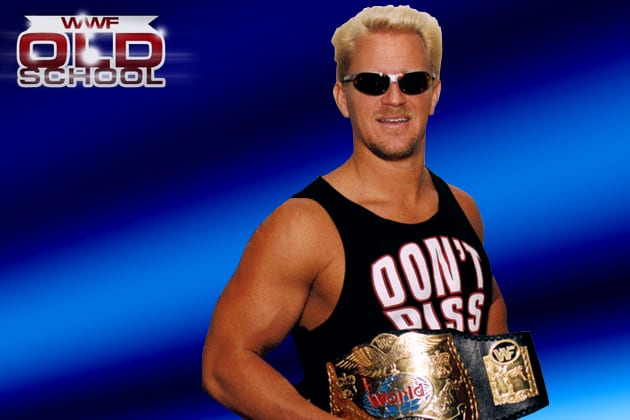 Jeff Jarrett as one half of the World Tag Team Champions in WWF