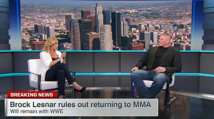 Brock Lesnar Re-Signs With WWE, Retires from MMA