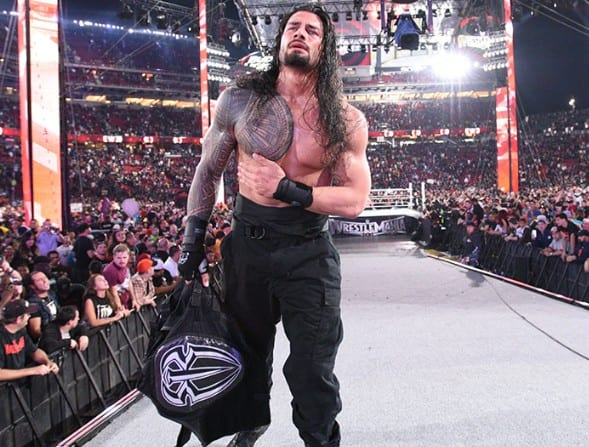 Roman Reigns after losing at WrestleMania 31