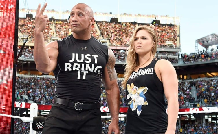 The Rock with Ronda Rousey - WrestleMania 31
