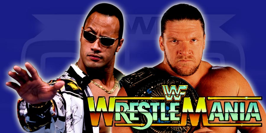 The Rock vs. Triple H - WrestleMania