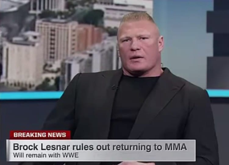 Brock Lesnar Closes the door on his MMA career