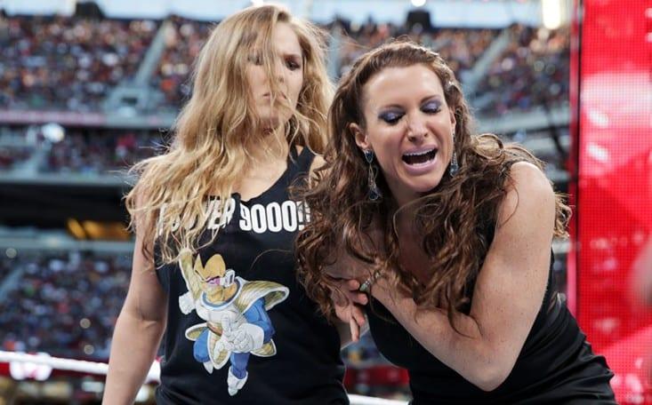 Ronda Rousey takes out Stephanie McMahon - WrestleMania 31