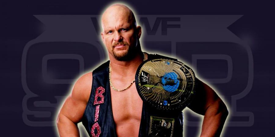 """Stone Cold"" Steve Austin as WWF Champion"