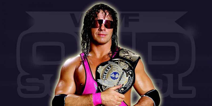 Bret Hart as the WWF Champion.