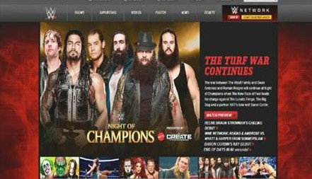 Baron Corbin to be surprise partner of Dean Ambrose & Roman Reigns at Night of Champion 2015 as seen on WWE.com slider