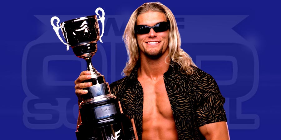 Edge as the King of the Ring 2001 winner