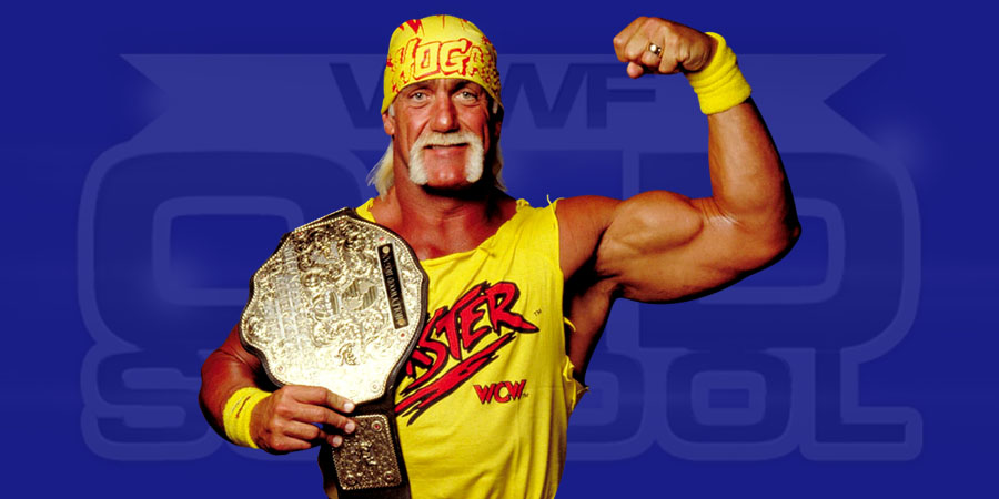 Hulk Hogan as WCW World Heavyweight Champion in 1995