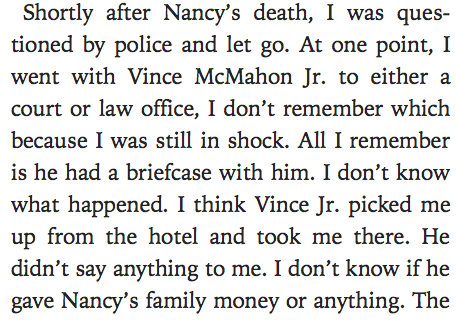 Vince McMahon possibly getting in trouble due to an extract in Jimmy Snuka's autobiography