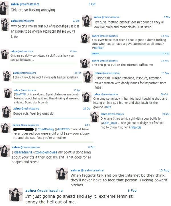 Zahra Schreiber's Inappropriate & offensive tweets