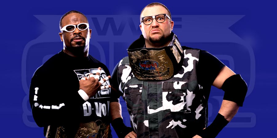 Dudley Boyz as the WWF Tag Team Champions