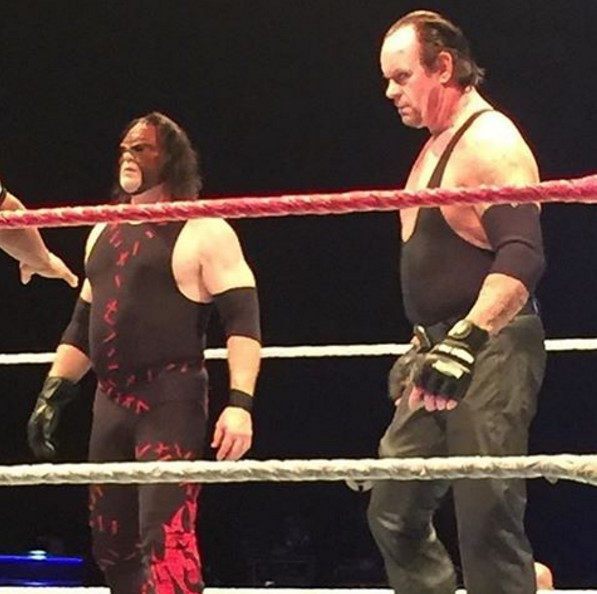 The Undertaker & Kane Defeat Luke Harper & Braun Storwman At WWE Live Event In Mexico
