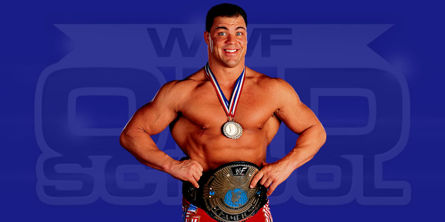 Kurt Angle as WWF Champion