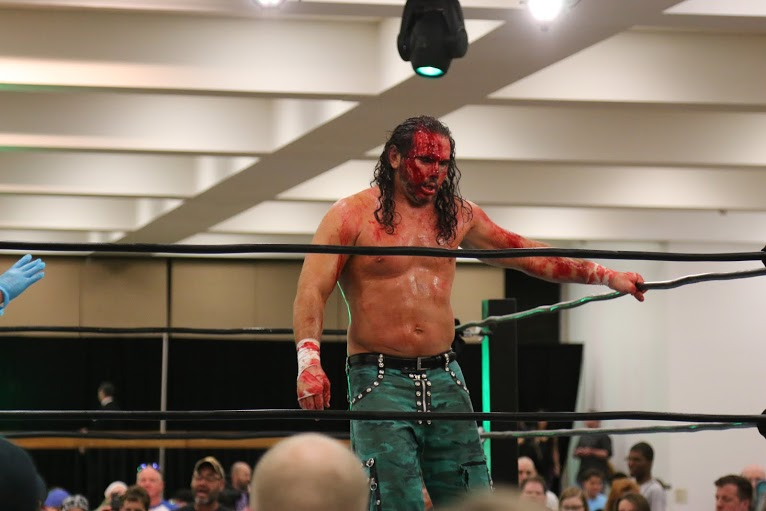 Matt Hardy Busted Open At WrestleCade IV