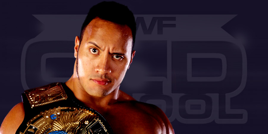 The Rock as WWF Champion in 1998