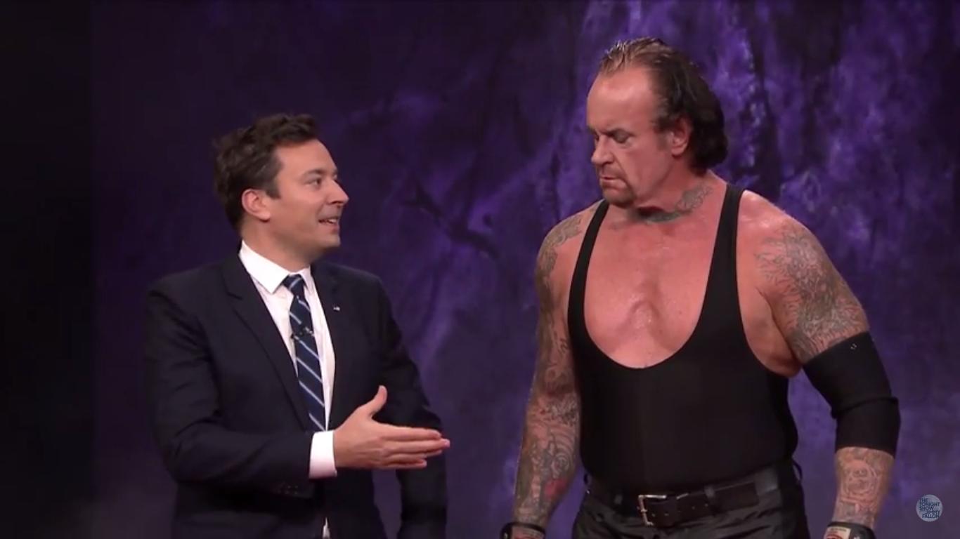 The Undertaker on Jimmy Fallon's Tonight Show