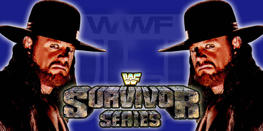 WWE Survivor Series 2015 - 25th Anniversary of The Undertaker in WWE