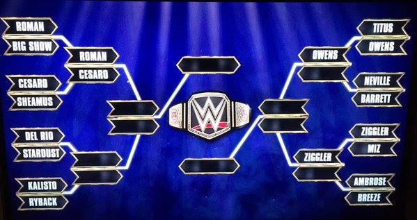 WWE World Title Tournament Bracket - WWE Survivor Series 2015