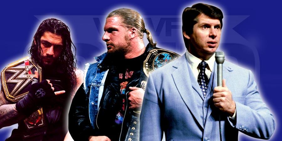 Roman Reigns, Triple H & Vince McMahon