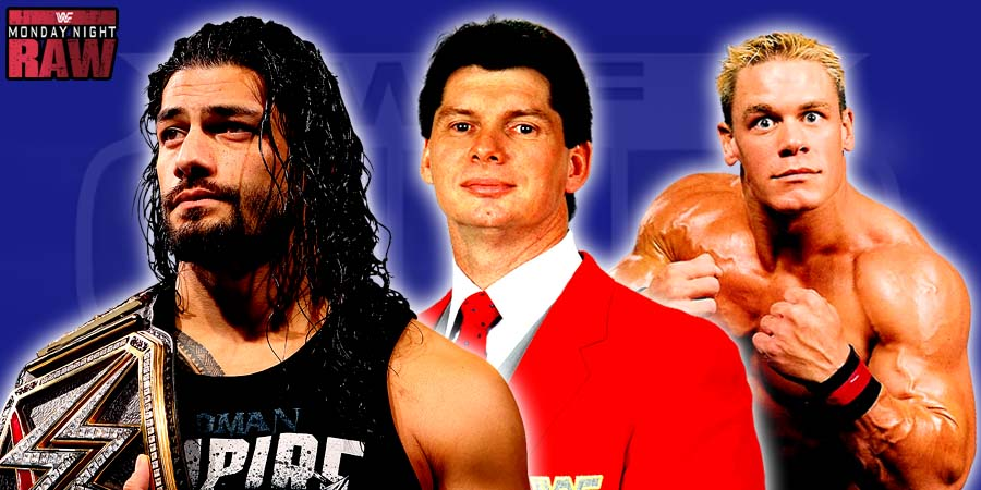 Roman Reigns, Mr.McMahon & John Cena - WWE Raw 2015