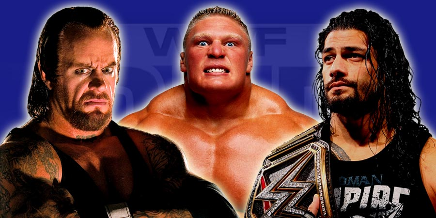 The Undertaker, Brock Lesnar & Roman Reigns - WrestleMania 32