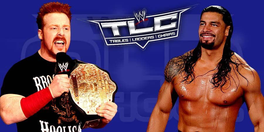 WWE TLC 2015 - Sheamus vs. Roman Reigns in a TLC Match for WWE World Heavyweight Championship