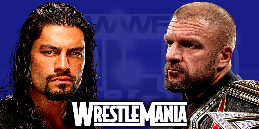 Roman Reigns vs. Triple H - WrestleMania 32 (WWE World Heavyweight Championship Match)
