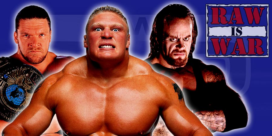 Triple H, Brock Lesnar, The Undertaker - Final WWE Raw Before WrestleMania 32