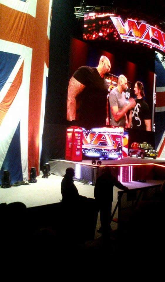Doc Gallows & Karl Anderson with AJ Styles on Raw