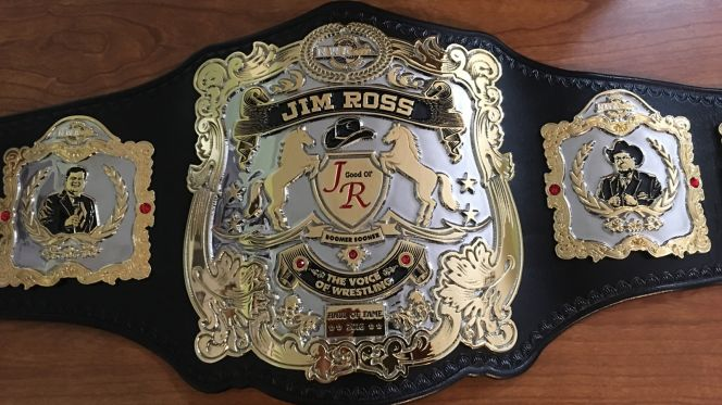 Jim Ross Championship Belt - Lifetime Achievement Award
