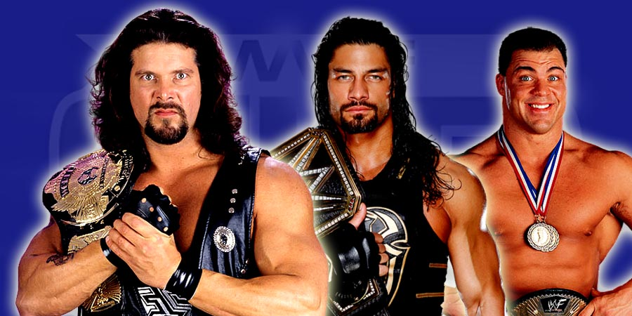 Kevin Nash, Roman Reigns & Kurt Angle