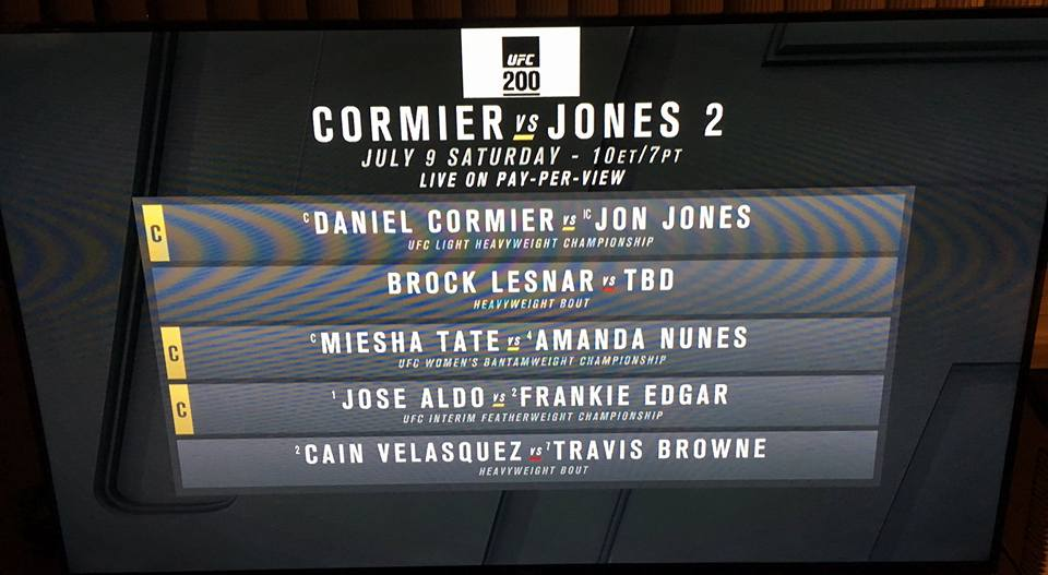 Brock Lesnar returning on UFC 200 card
