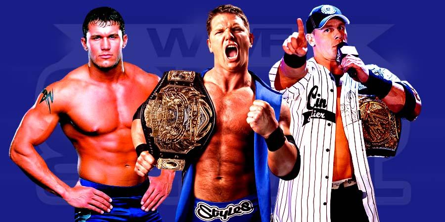 Randy Orton, AJ Styales, John Cena