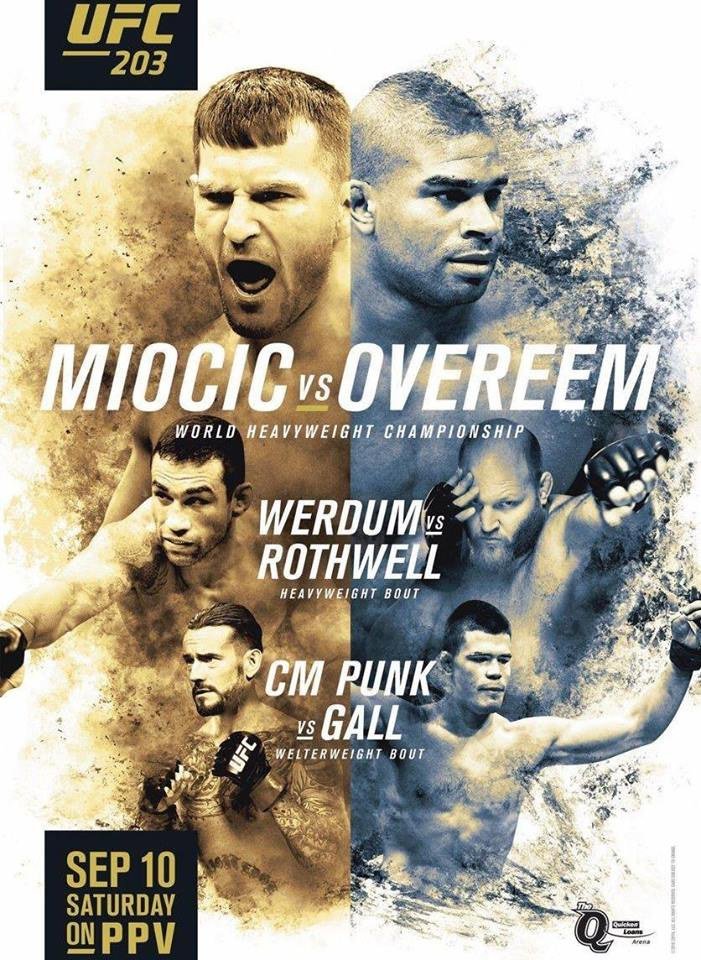 CM Punk Featured on the UFC 203 Poster - vs. Mickey Gall