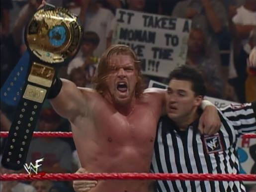 Triple H wins WWF Championship for the 1st time ever - August 23,1999 WWF Raw Is War