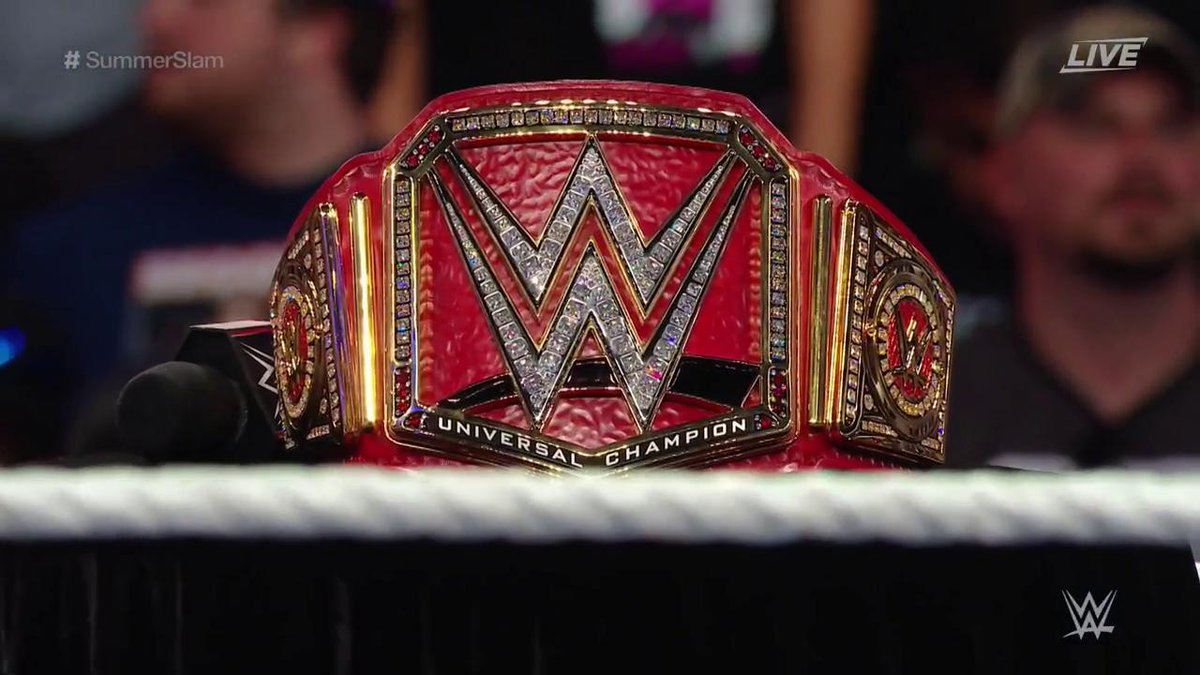 WWE Universal Championship Belt Revealed At SummerSlam 2016