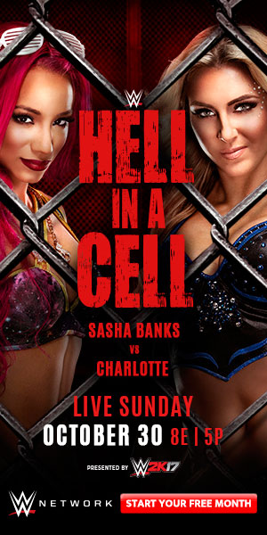 Sasha Banks vs. Charlotte - 1st Ever Women's Hell in a Cell match - Hell in a Cell 2016