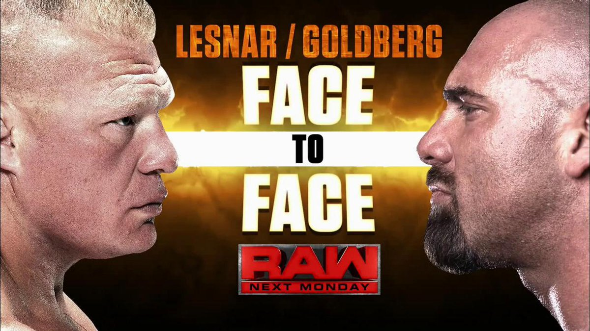 Brock Lesnar & Goldberg - Face-To-Face Before Survivor Series 2016 on Raw