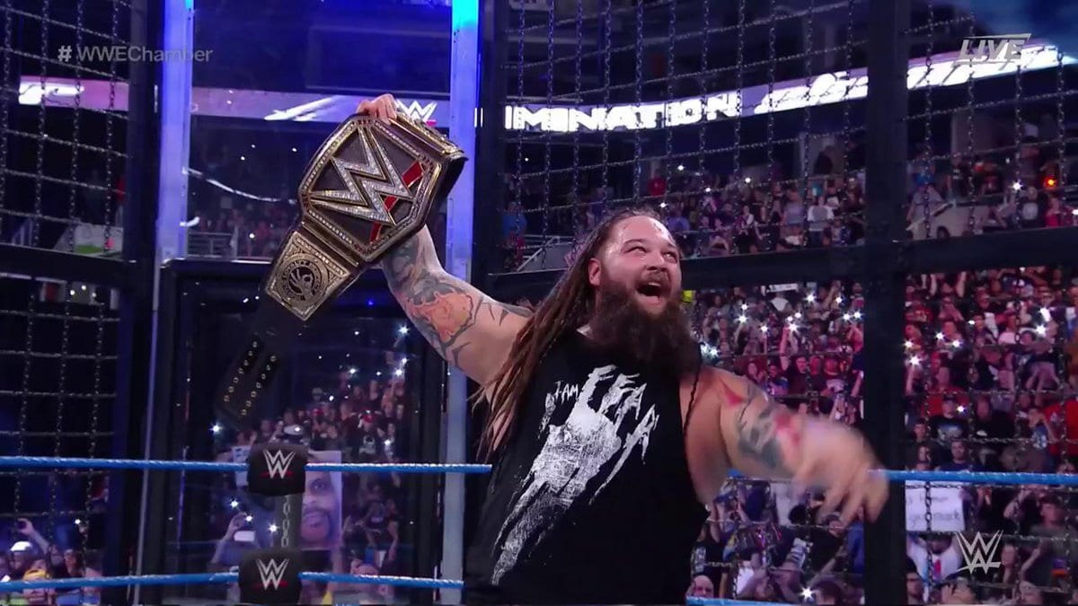 Bray Wyatt wins the WWE Championship at Elimination Chamber 2017