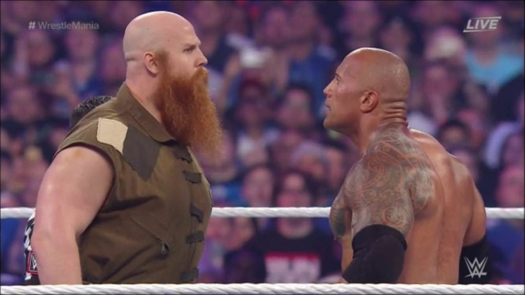 Eric Rowan vs. The Rock - WrestleMania 32