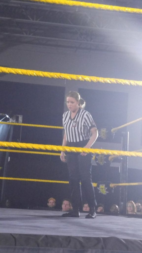 Female Referee At NXT Live Event in Gainesville, Florida 2017