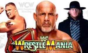 Goldberg (WWE Universal Champion), Brock Lesnar, The Undertaker - WrestleMania 33