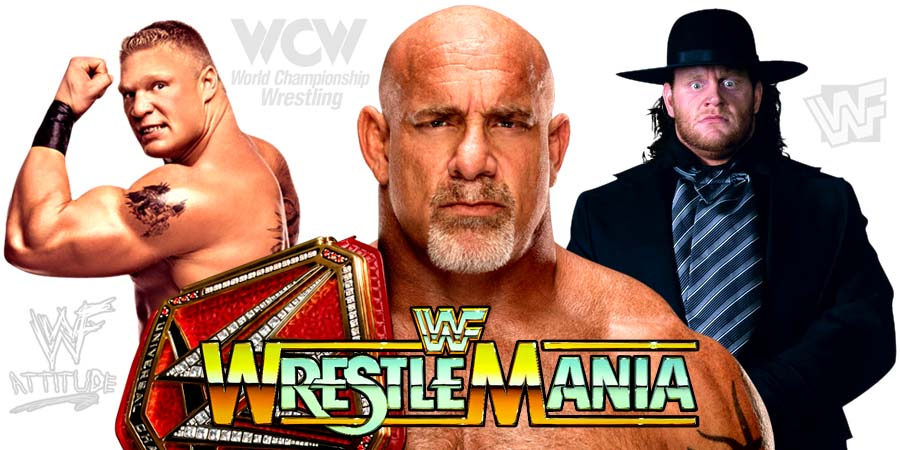 Goldberg (WWE Universal Champion), Brock Lesnar, The Undertaker - WrestleMania 33
