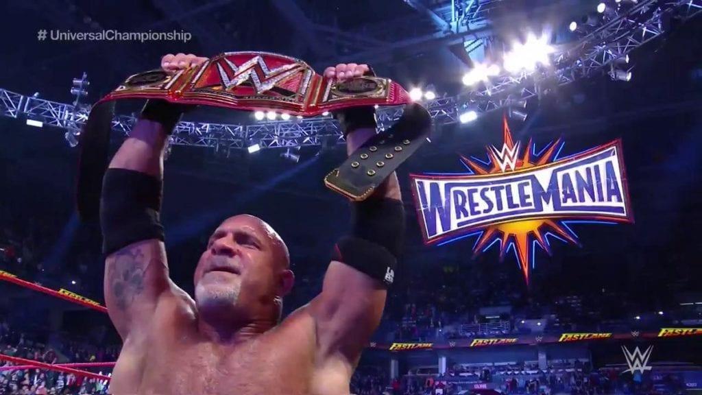 Goldberg wins WWE Universal Championship at FastLane 2017